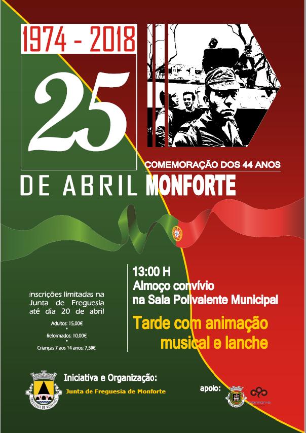 Comemorações 25 Abril