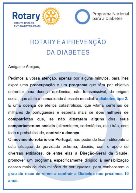 Rotary e a Prevenção da Diabetes