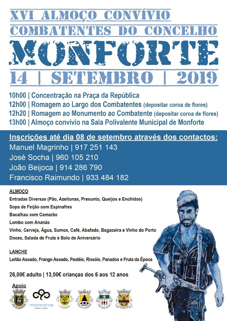 HOMENAGEM AOS EX-COMBATENTES DO CONCELHO DE MONFORTE